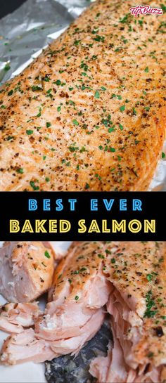 How Long to Bake Salmon Enjoy this oven baked salmon that's moist, flaky and full of flavor! It's rubbed with dry seasonings and baked to perfection. Also learn how long to bake salmon at any temperature and get great results every time! Salmon Filet Oven, Oven Cooked Salmon, Baked Salmon Filets, Salmon Cooking Time, Baked Salmon Recipes, Seafood Recipes, Salmon Bake Time, How To Bake Salmon, Temperature To Cook Salmon