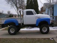 mud trucks | ... : 1953 Blue Chevrolet Custom Mud Truck For Sale in Aberdeen SD 57401....need better rubber