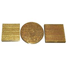 Line Vautrin Dore Bronze Compacts | 1stdibs.com