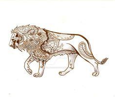 Henna Lion by artfullycreative on DeviantArt