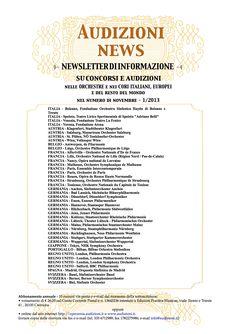 AUDIZIONI news n. 1 - gennaio 2012