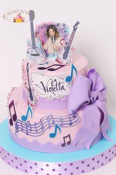 Torturi de vis: Tort pentru Violeta Music Themed Cakes, 14th Birthday Cakes, 21st Cake, Girly M, Cake Art, Lucci, Disney Channel, Sweet, Kids