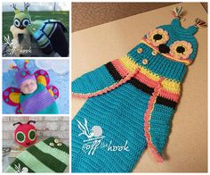 Crochet Owl Cocoon - Crochet Butterfly Cocoon - Crochet Caterpillar Cocoon - find free patterns on our site