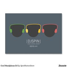Cool Headphone DJ Large Business Cards Pack Of 100 Best Headphones Dj Music