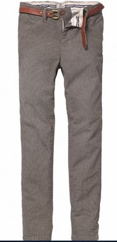 Scotch & Soda Shrunk Tailored Chino Pants With Leather Belt