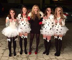 Kostüme von 101 Dalmatinen in Schwarz, Weiss und Rot