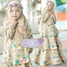 AQILA BY NAYARA  Price in IDR 325,000 Estimasi Ready 2 Agust  Dress tiga tumpuk dengan bahan crep premium high quality, bahan adem dan jatuh,  sangat nyaman walaupun dipakai anak seharian Khimar ceruty LV premium  Allsize, LD 80 panjang 110 Resleting belakang Karet belakang Lengan kancing 1 3 tumpuk  Line @kni7746k Wa +62896 7813 6777  #hijab #hijabers #hijabfashion #hijabmurah #hijabsyari #hijaber #hijabootd #hijabista #hijaboutfit #hijabindonesia #hijabchic #khimar #khimarsyari… Baby Girl Dress Patterns, Baby Girl Dresses, Baby Dress, Kids Outfits Girls, Girl Outfits, Kids Abaya, Baby Hijab, Baby Clothes Sizes, Dress Anak