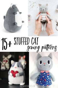 Click and browse this curated list of stuffed cat sewing patterns! Lots of modern cat stuffed animal options including free stuffed cat sewing patterns.