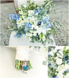 Blue and White Spring Bouquet White Springs, Spring Bouquet, Floral Design, Blue And White, Table Decorations, Create, Home Decor, Decoration Home, Room Decor