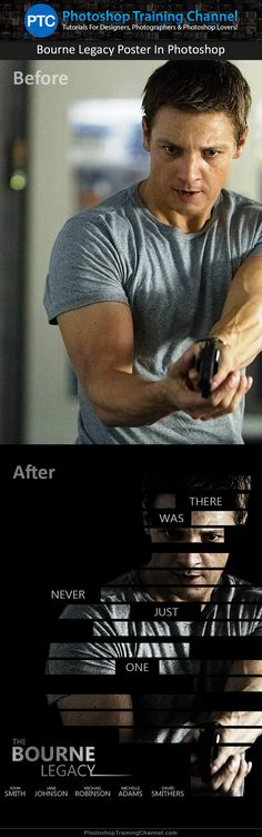 Learn how you can re-create the Bourne Legacy movie poster using some pretty nifty Photoshop techniques. Check it out!