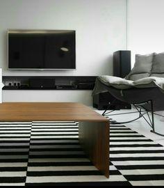Feature tv shelf