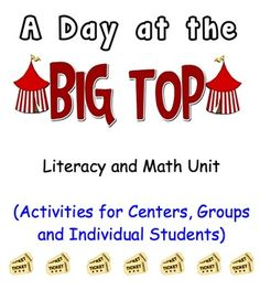 """FREE """"A Day at the Big Top"""" Circus Themed-Literacy and Math unit"""