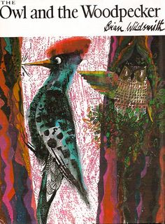 Vintage Children's Book, The Owl and the Woodpecker, Brian Wildsmith