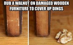 Easy way to cover up dings on furniture around the house!