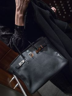 The 35cm Hermes Black Birkin in clemence leather and palladium hardware - The holy grail of all bags...