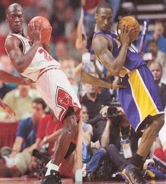 Freakish Video Comparing MJ And Kobe Doing EXACT Identical Moves On The Court. We all know Kobe loved to emulate the best basketball player in the world Michael Jordan but this video will give you the chills. Basketball Memes, Basketball Is Life, Basketball Pictures, Basketball Legends, Basketball Players, Basketball Stuff, Kobe Bryant Michael Jordan, Michael Jordan Basketball, Michael Jackson