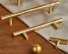 Brass Hammer handles pulls for Cabinet bar pulls Knobs Modern | Etsy Antique Drawer Pulls, Drawer Pulls And Knobs, Brass Door Handles, Cabinet And Drawer Pulls, Door Pull Handles, Kitchen Cupboard Handles, Kitchen Drawer Pulls, Cabinet Handles, Brass Kitchen