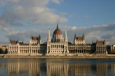 The imposing neo-gothic parliament in Budapest
