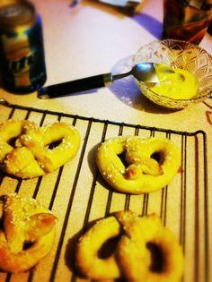 made from this recipe: http://www.twopeasandtheirpod.com/homemade-soft-pretzel-bites/