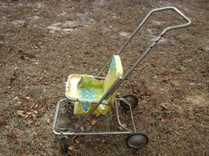 Vintage 1970's Baby Stroller...Yellow..LOCAL PICK UP ONLY