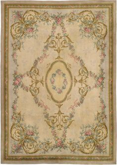 Savonnerie Carpet   | From a unique collection of antique and modern western european rugs at http://www.1stdibs.com/furniture/rugs-carpets/western-european-rugs/