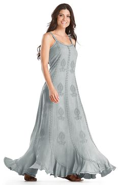 Shop Saria Scalloped Hem Gothic Embroidered Gypsy Sun Beach Dress in Silver Pewter: http://holyclothing.com/index.php/kyla-scalloped-hem-gothic-embroidered-gypsy-sun-beach-dress.html. Repins are always appreciated :) #holyclothing #fashion #ScallopedHem #Gothic #Embroidered#Gypsy #Sun #Beach #Dress