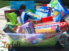 College student easter basket recipe box easter baskets and college easter basket ideas for college students negle Images
