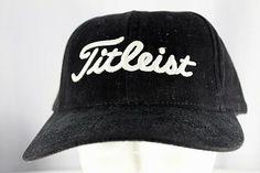 8f8250e744a Titleist Golf Black Baseball Cap Adjustable  Titleist  BaseballCap