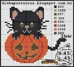 Halloween pattern by Dinha Ponto Cruz