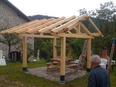 Simple timber gazebo