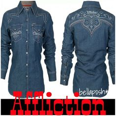 Spotted while shopping on Poshmark: Affliction Western/Country Girl Top! #poshmark #fashion #shopping #style #Affliction #Tops