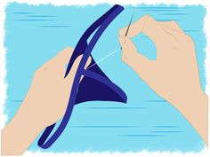How to Make a Thong. Thongs are a notoriously sexy type of underwear. Perhaps you want to own a pair, but feel shy about going to the store to purchase some. Or, perhaps you already have store-bought thongs, and simply want to challenge. Underwear Pattern, Lingerie Patterns, Sewing Lingerie, Sewing Clothes, Diy Clothes, Clothes Refashion, Old Bras, Bralette Pattern, Diy Sewing Projects