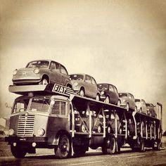 Transport of Fiat cars #fiat