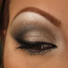 This shimmery smokey eye is perfect for any occasion! The metallic eyeshadow adds depth to the look.