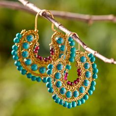 Boho Statement Earrings ~ Hand-Crafted by artisans in India via www.worldmarket.com #CRAFTBYWORLDMARKET