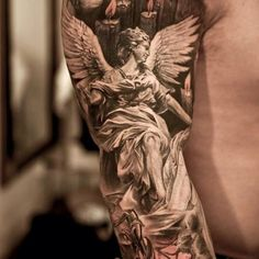 angel-tattoo-on-arm