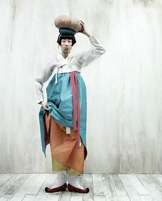 Hanbok - Korean Traditional Costume | Photo by Kim Kyung Soo for Vogue Korea