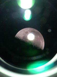 Photo of the moon taken through my telescope looks like it was taken through a spaceship window. : mildlyinteresting