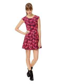 TALULA PALMETTO DRESS - Soft, sweet, and skater-inspired, with a clever twist at the back