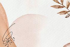 watercolor rawpixel brown desktop powerpoint presentation botanical premium aesthetic memphis backgrounds pastel abstract wallpapers paper leaf iphone floral slide pattern