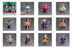 Folk Embroidery Tutorial Can you believe these cute little dolls are made from pipe cleaners and embroidery thread? From Princess Nimble Thimble. Fairy Crafts, Doll Crafts, Pipe Cleaner Art, Pipe Cleaners, Art For Kids, Crafts For Kids, Operation Christmas Child, Clothespin Dolls, Folk Embroidery