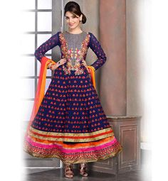 PARTY WEAR DESIGNER DRESS TO WEAR IN SANGEET FUNCTION. EMBROIDERED ANARKALI DRESS PATTORN AT CHEAP RATES