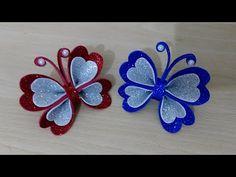 فراشة من الفوم للتزيين/افكار من الفوم للديكور /أعمال يدوية من الفوم/DIY Home Decor / Arts and craft - YouTube Paper Butterfly Crafts, Paper Flowers Diy, Felt Flowers, Flower Crafts, Fabric Flowers, Paper Crafts, Diy Crafts For Gifts, Creative Crafts, Crafts For Kids