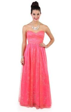 strapless mango glitter long prom dress with key hole back