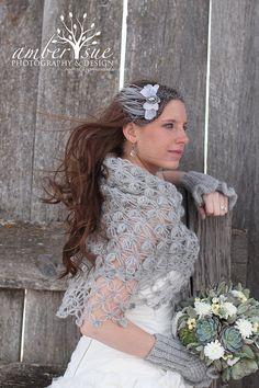 Crochet Shawl  Gray Shawl  Winter accessories  by MODAcrochet, $75.00