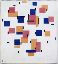 Piet Mondrian Compositie in Kleur B (Composition in Colour B) 1917 Mondrian and his Studios Tate Liverpool: Exhibition 6 June – 5 October 2014 Piet Mondrian, Wassily Kandinsky, Monet, Van Gogh, Dutch Artists, Art Auction, Geometric Art, Figurative Art, Painting & Drawing