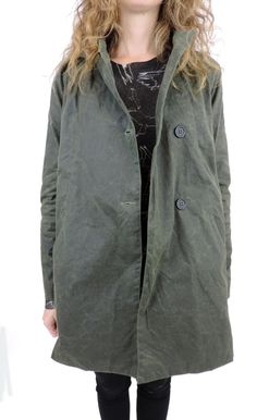 Eco Waxed Cotton Trench