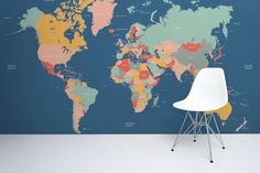 Navigator-kids-world-map-mural