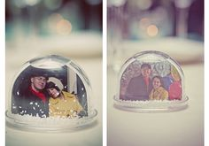 Why didn't I think about this?!? It soooo goes with my winter theme wedding, snow globe wedding favors!
