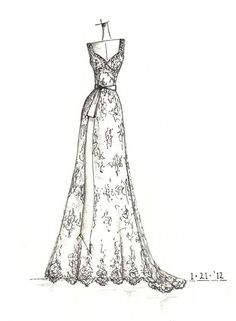 www.etsy.com/shop/dresssketch wedding dress sketch